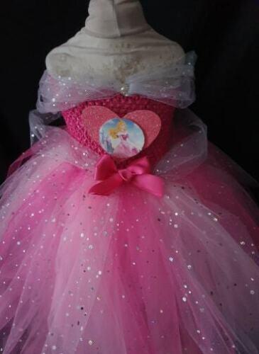 Handmade Sparkly girls Tutu dress Sleeping Beauty Aurora Disney Inspired