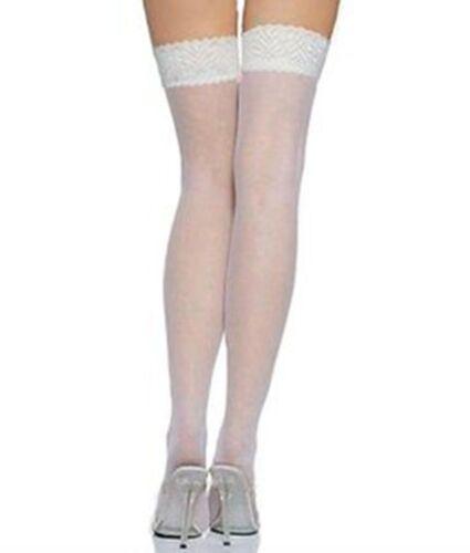 20 Denari Calze donna antiscivolo in silicone in Pizzo Calze Ultra Sheer UK