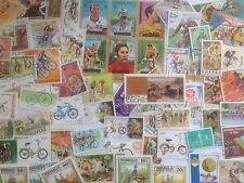 200 Different Bicycles/Cycling on Stamps Collection