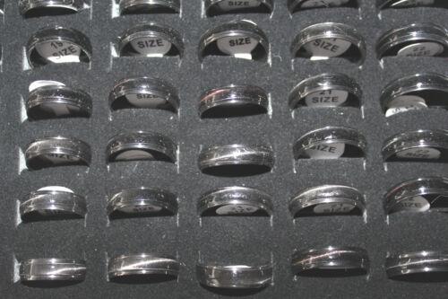 Neu Modeschmuck Ring 6mm Cateye Effekt Farbe Anthrazit Edelstahl 17-21.5 #121