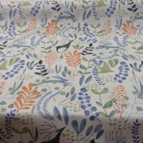 Giselle Wildwood Park Lino pimentón Cortina//artesanía//upholsteryfabric