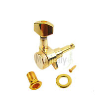 6 Inline Gold Guitar String Locking Machine Heads Tuning Pegs Tuners Right Hand