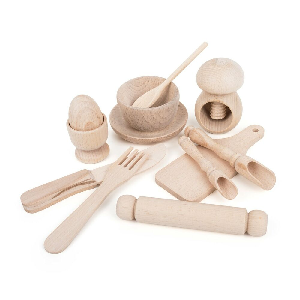 """permet De Cuire"" Montessori Children's En Bois Cuisine Play Set"