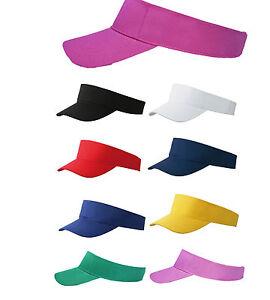 Euro-fashion-sun-visiere-100-coton-8-couleurs-golf-tennis