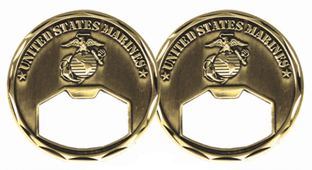 Details about NEW USMC U S  Marine Corps Bottle Opener Challenge Coin  3140