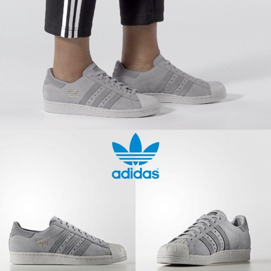 Adidas Original Superstar 80s Grey Grey Grey BZ0208 SZ 4-11 Limited
