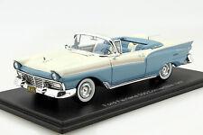 Ford Fairlane 500 Convertible Baujahr 1957 hellblau / weiß 1:43 Neo