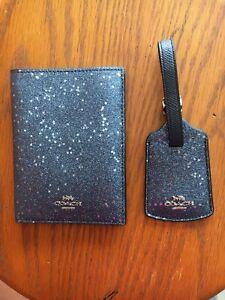 Passport Case /& Luggage Tag Set-Navy Blue