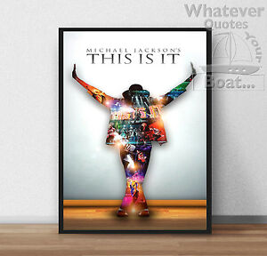 Michael Jackson KING OF POP Wall Art Poster Print Cool Gift Frame All Sizes