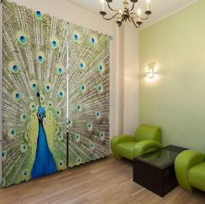 3d Peacock 070blockout Photo Curtain Printing Curtains Drapes Fabric