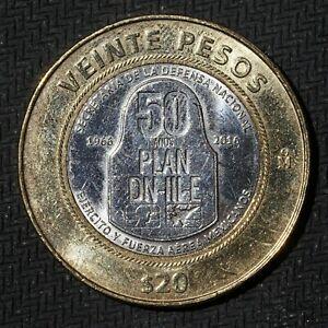 Mexico 2016 20 Pesos Plan DN-III-E Mexican Bimetallic Commemorative Coin #E5
