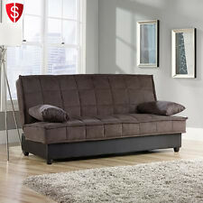 Convertible Futon Sofa Couch Bed Sleeper Mattress Lounger Living Room  Furniture