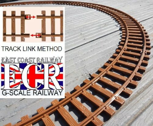 NEW G SCALE RAILWAY RAIL 45mm GAUGE STRONG PLASTIC TRACK LAYOUT FOR GARDEN
