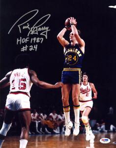 5e102cb048ea Rick Barry SIGNED 11x14 Photo + HOF 87 Golden State Warriors PSA DNA ...