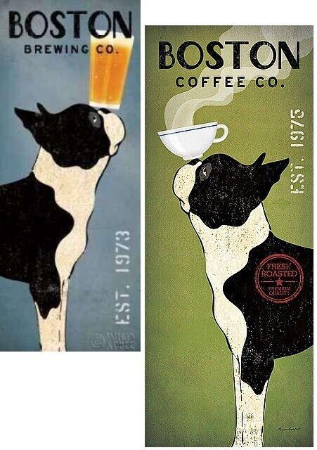 Black Dog Coffee Co by Ryan Fowler 12x12 Art Print Poster Animal Signs