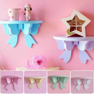 Wooden-Butterfly-Wall-Shelf-Bedroom-Holder-Storage-Rack-Home-Decoration-S-L-Size