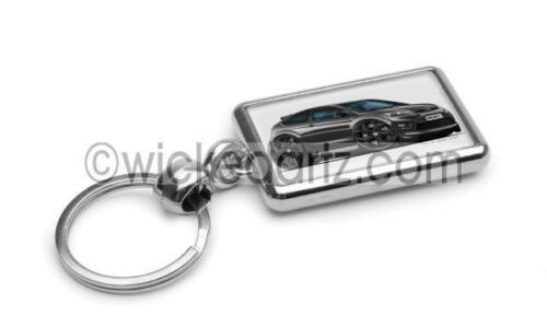 RetroArtz Cartoon Car Ford Focus MK2 ST3 Black BK Alloys Premium Metal Key Ring