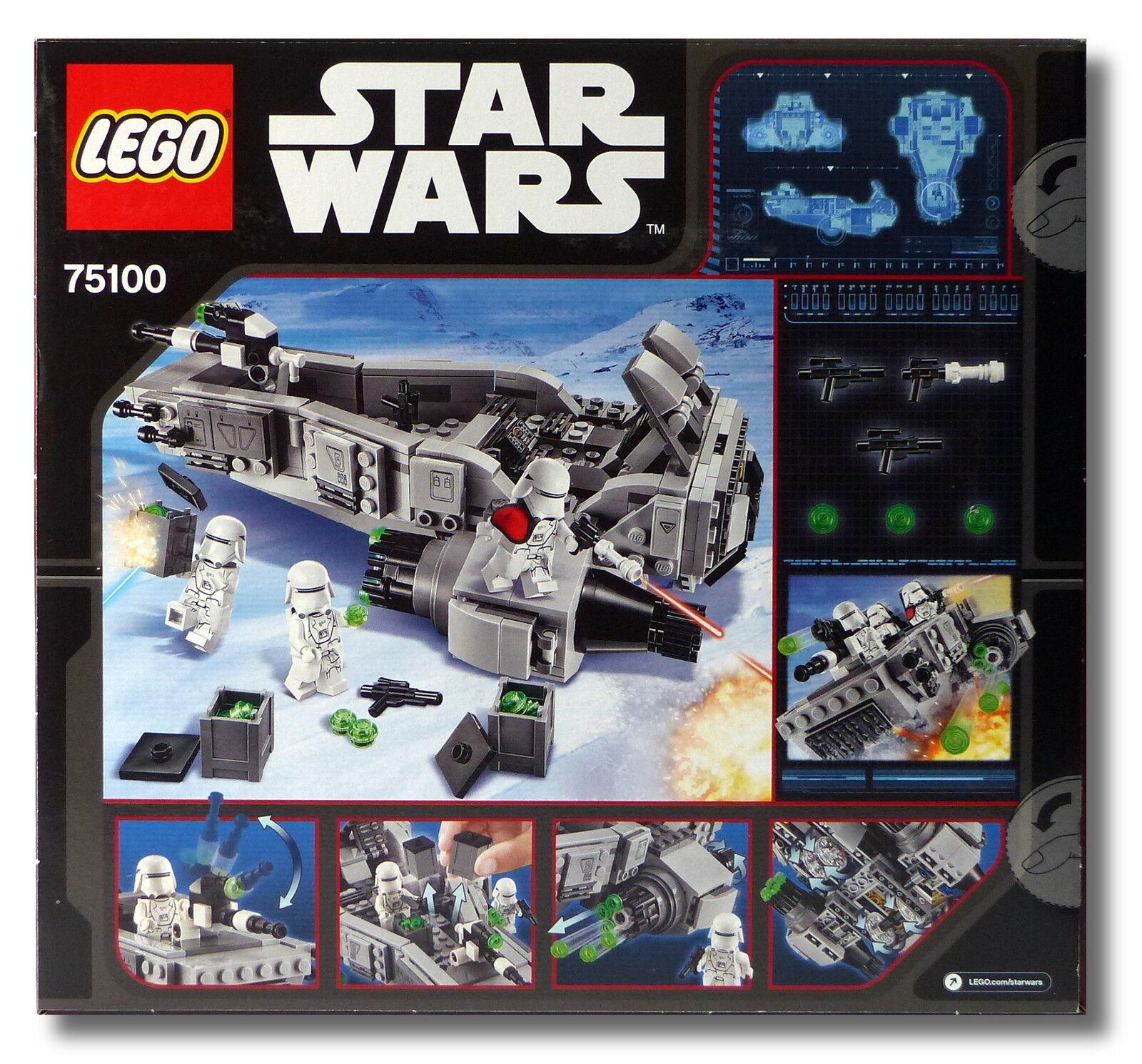 LEGO ® ® ® Star Wars ™ 75100 First Order Snowspeeder ™ Nouveau Neuf dans sa boîte New En parfait état, dans sa boîte scellée ecca03
