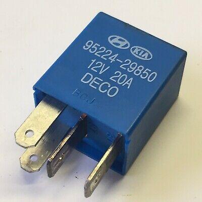 Kia/& Hyundai Multi-Use Blue 4-Pin Relay HMC 95224-29850 12V 20A 522429850-#27