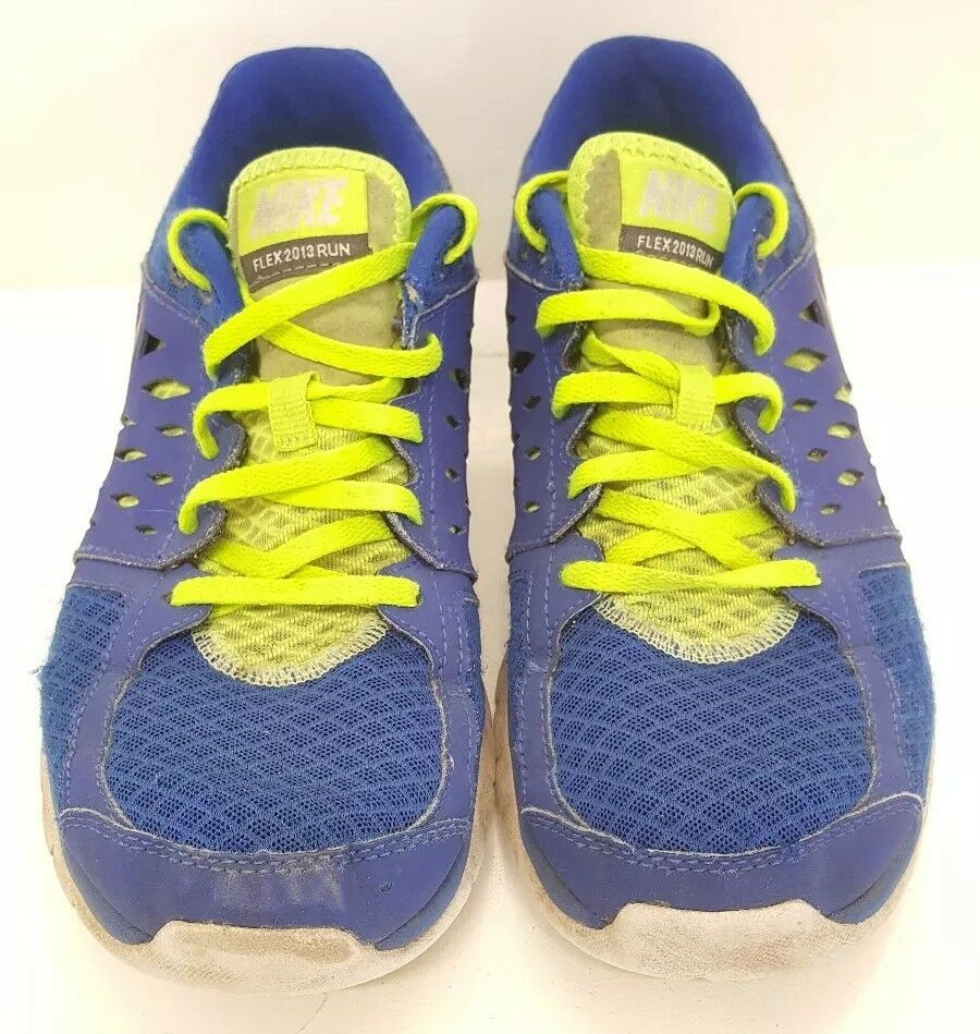 bluee Neon Green MENS Sz 7.5 Nike Flex Flex Flex 2013 Cross Training shoes Athletic Running 4b9d06