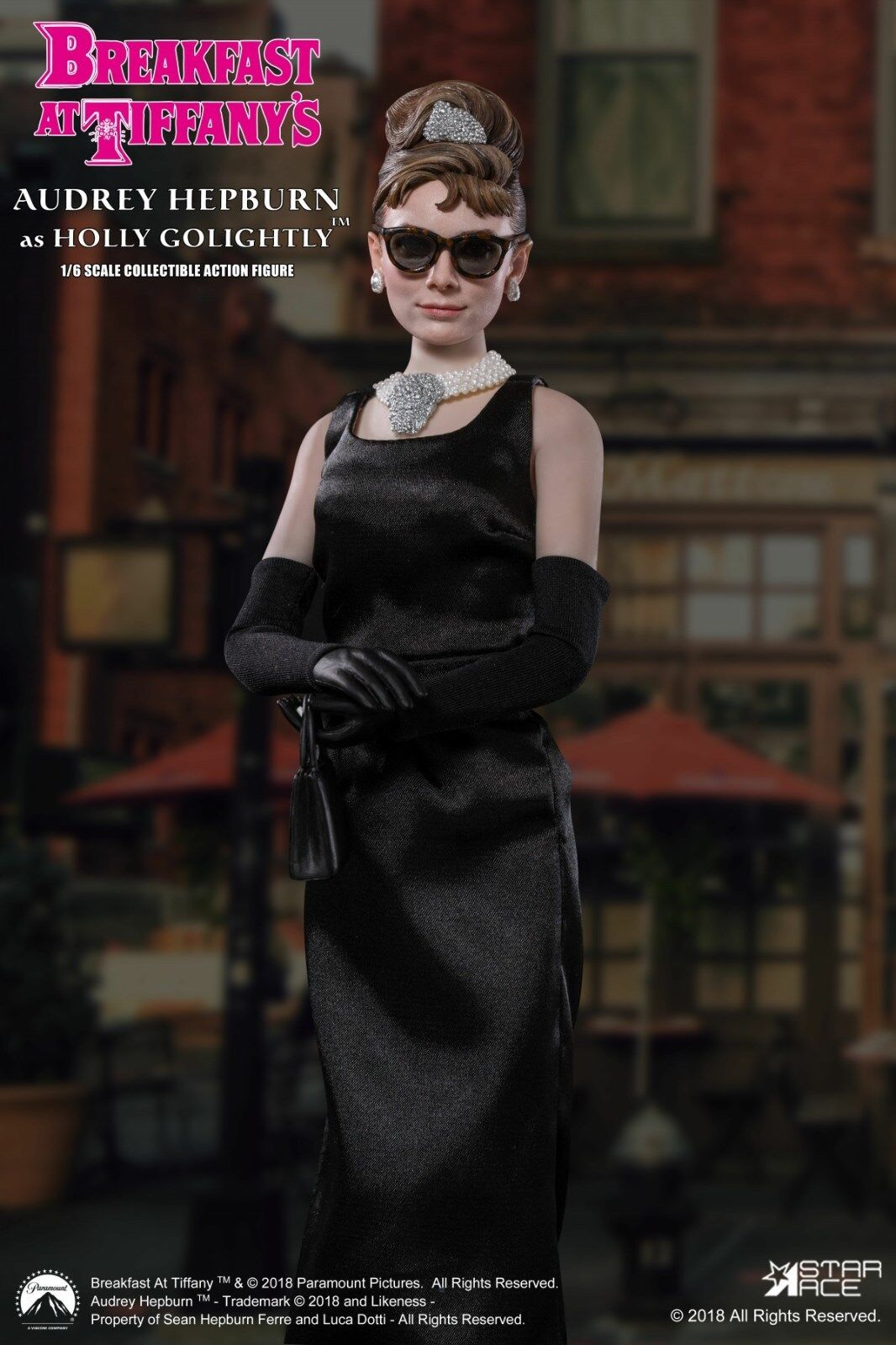 Star Ace 1/6 Audrey Hepburn Figure as Holly Golightly Normal Version   051