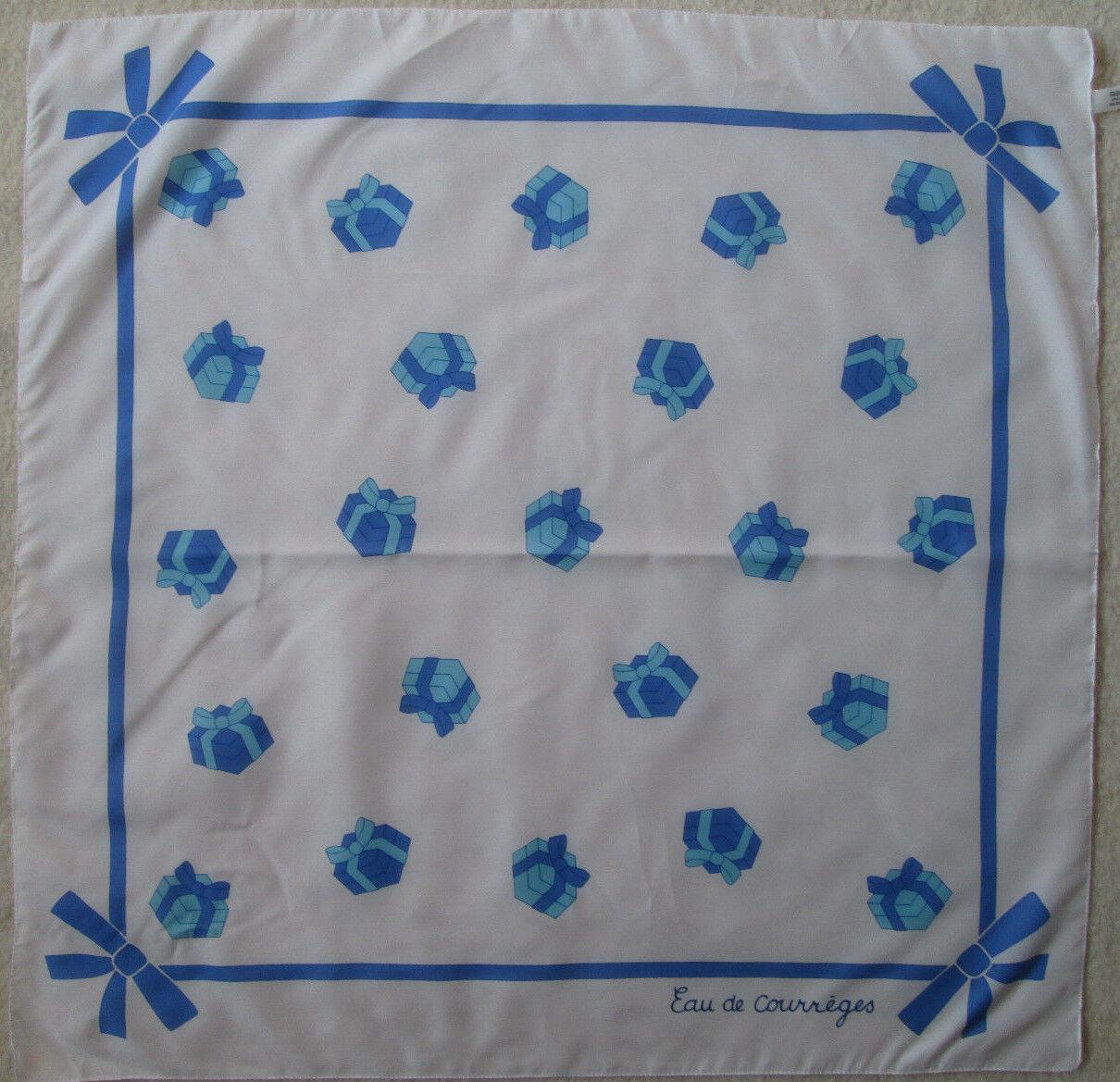 - superb scarf eau de courreges polyester tbeg vintage 70 x 70 cm