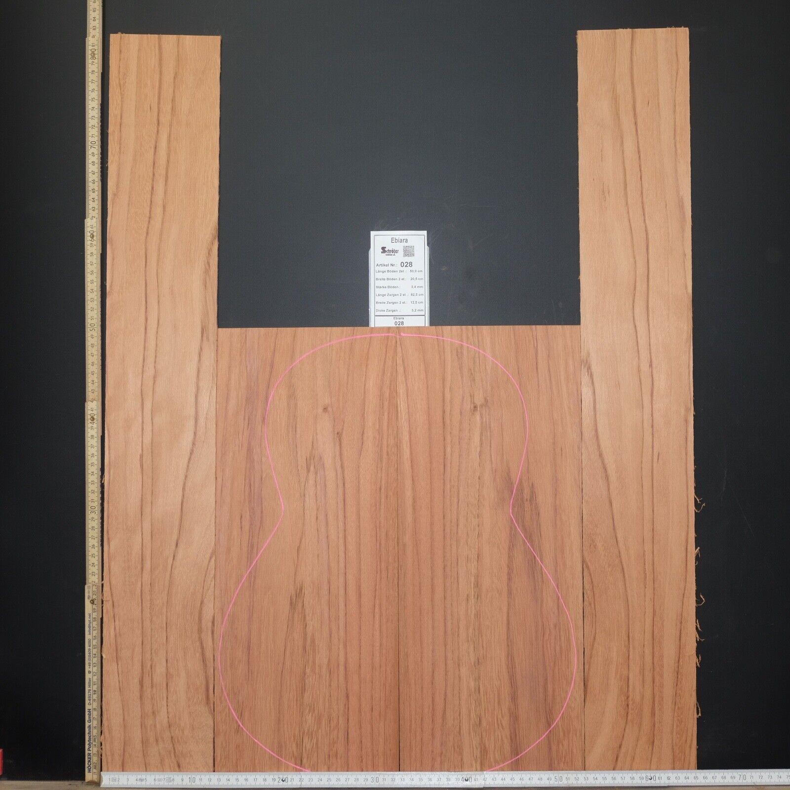 Tonewood Ebiara Berlinia Tonholz Guitar Builder Acoustic Backs and Side set 028
