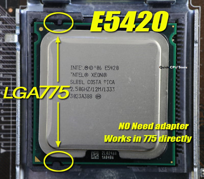 Intel Xeon E5420 SLANV Quad-Core 2.5GHz//12M//1333 Socket LGA771 Processor CPU