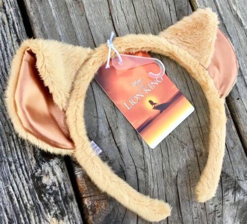 NWT DISNEY LION KING SIMBA PLUSH COSTUME EAR HAT HEADBAND OSFA 2019 MOVIE PROMO