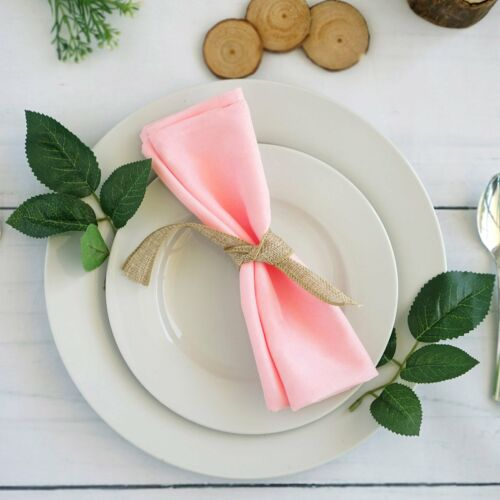 "50 Polyester 20x20/"" Wedding NAPKINS Party Table Linens Catering Decorations"