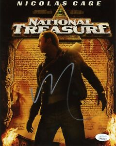 NICOLAS-CAGE-Authentic-Hand-Signed-034-NATIONAL-TREASURE-034-8x10-Photo-JSA-COA