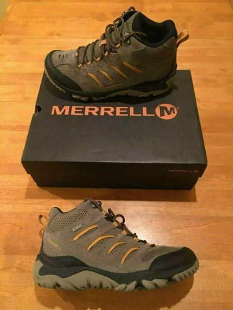 J09559 MERRELL White Pine Mid Ventilator Waterproof Hiking Boots Men's Sz 10.5