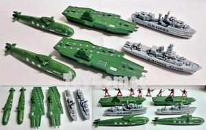 6-pcs-Military-Aircraft-Carrier-Submarine-Ship-Toy-Soldier-Army-Men-Accessories