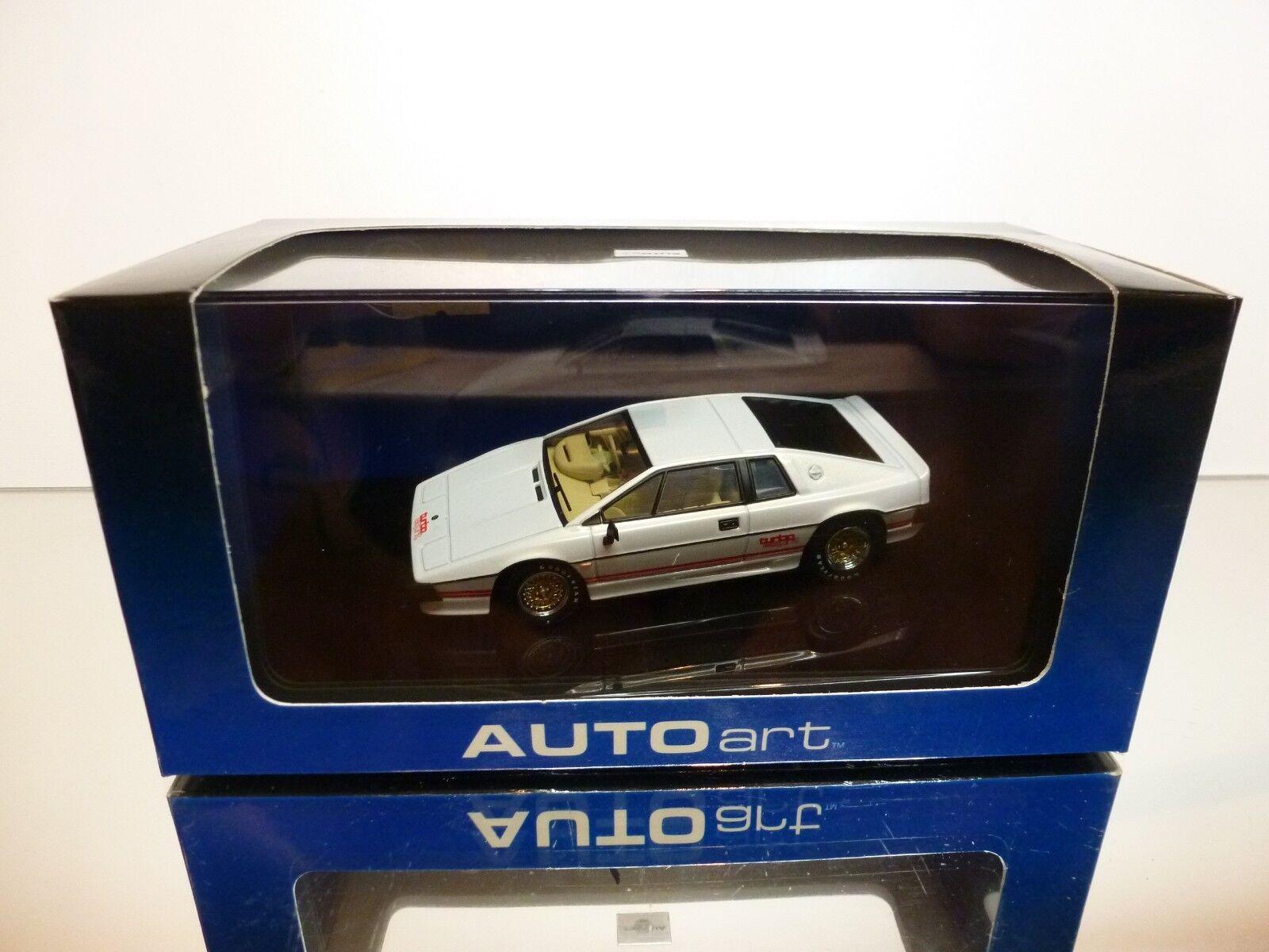 AUTOART 55301 LOTUS ESPRIT TURBO  - PEARL blanc 1 43 - EXCELLENT IN BOX