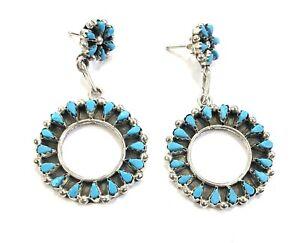 Sterling silver naif designer dangle ethnic earrings