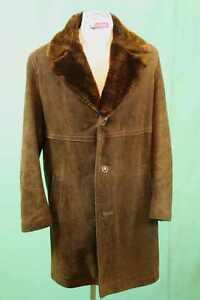 Preis modische Muster Shop für echte Details zu 70er Wild Leder Mantel ca 48/M vintage echt retro Herren Pelz  Zaren