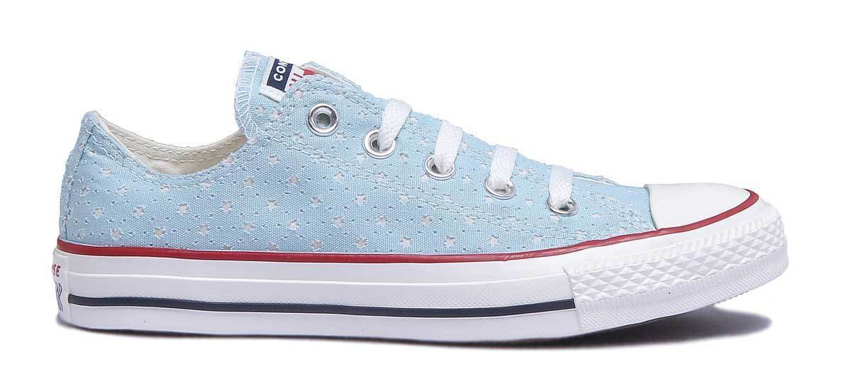 Converse Chuck Taylor All Star Trainers Perf Women Ocean White Trainers Star UK Size 3 - 8 68d096