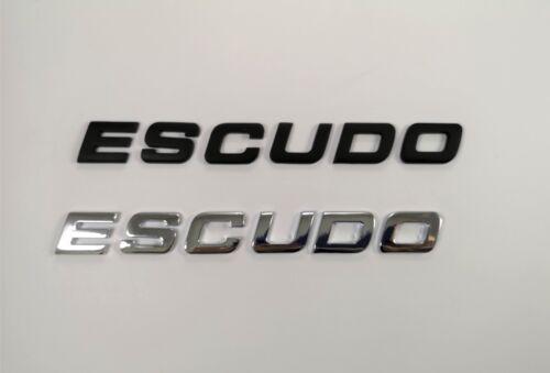 Black//Chrome ESCUDO Emblem Badge Letters For Trunk Hood Door Car