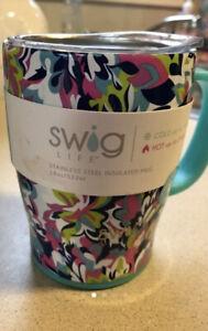 Nwt Swig Life Frilly Lilly Insulated Mug With Handle 18 Oz Ebay