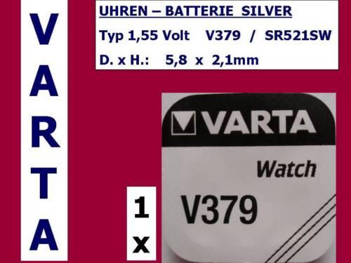 Mengen Rabatt bis zu 20/% Batterie V379 SR521SW Knopfzelle 379 Varta 1,55V