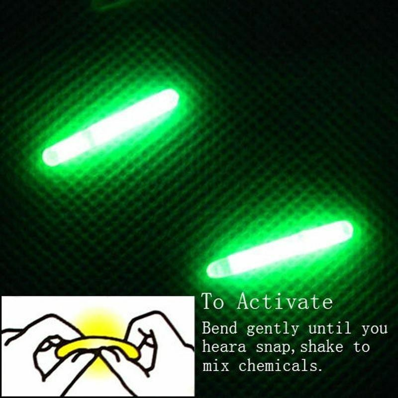 Hot 50PCS Fishing Lights Night Fluorescent Glow Stick ...