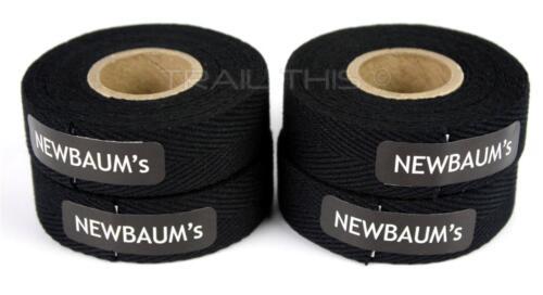 4-Rolls Newbaums Cotton Cloth Road Bike Handlebar Bar Tape Wrap Newbaum/'s BLACK