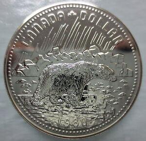 CANADA-1980-SPECIMEN-SILVER-DOLLAR-ARCTIC-TERRITORIES-CENTENNIAL-COIN