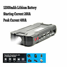 Car Jump Starter 12000mAh 12V Auto Battery Pack Booster Charger Phone Power Bank