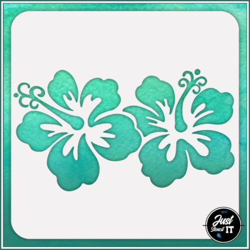 Hibiscus Flower #2 durable and reusable stencil for DIY painting /& crafts