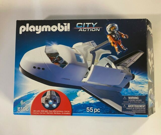 Playmobil 6196 City Action Space Shuttle Mission with Box and Astronauts
