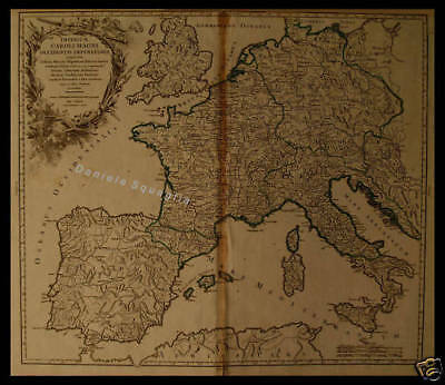 Cartina Europa 1700.Carta Geografica 1700 Impero Carlo Magno Europa Ebay