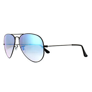 b2b6393fd2 Ray-Ban Sunglasses Aviator 3025 002 4O Black Blue Gradient Flash ...