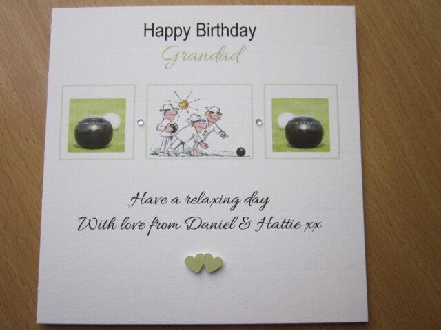 Personalised Handmade Lawn Bowls Birthday Card Grandad Grandpa