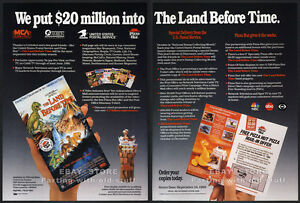 THE-LAND-BEFORE-TIME-Original-1989-Trade-print-AD-video-promo-ad-Don-Bluth